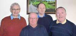 Forres Golf Club's Senior Texas SCramble winners from left: Alan Bell, Gary MacDonald, Andy Allan and Jimmy Jones