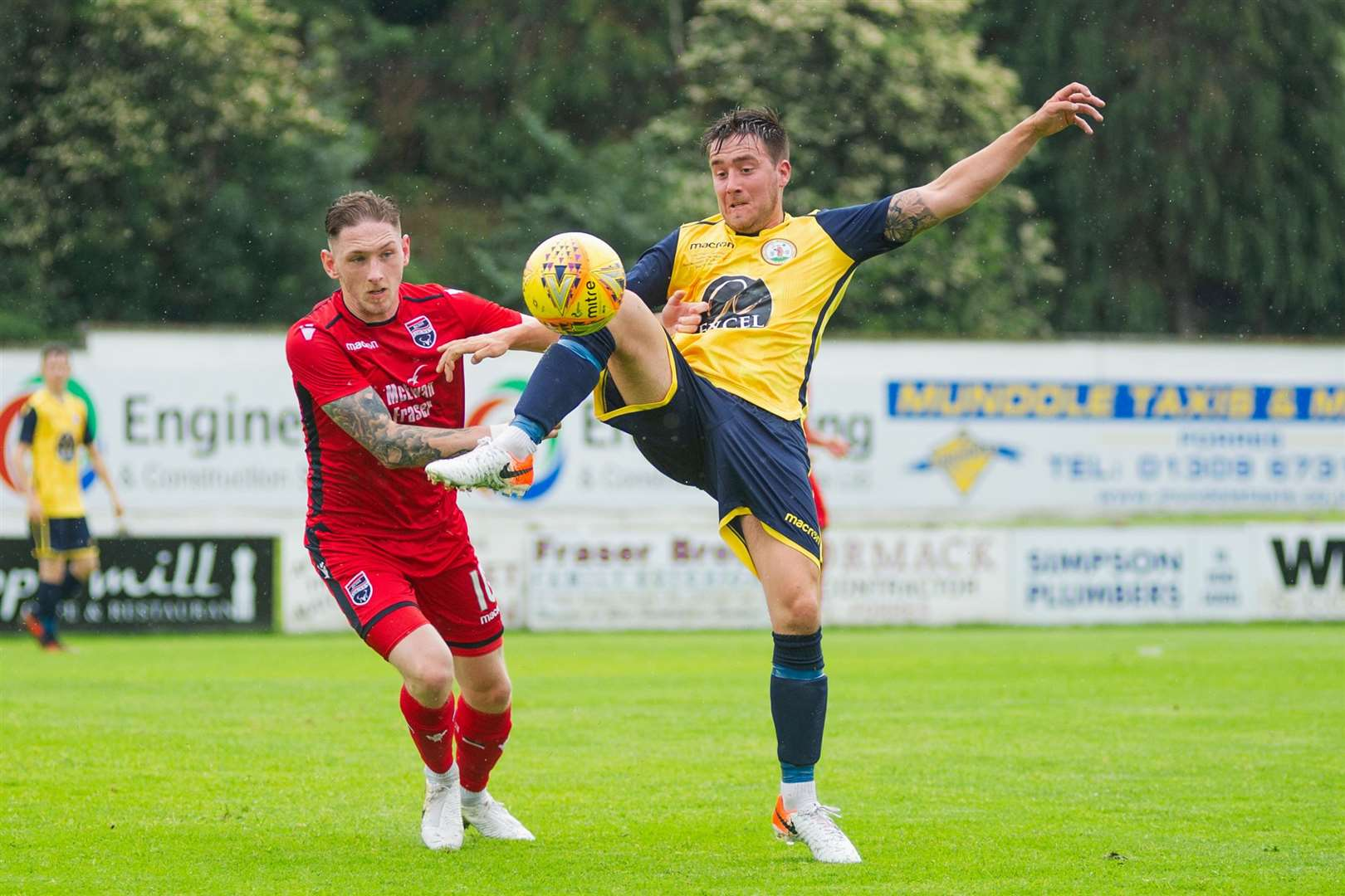 Forres Mechanics' midfielder Martin Groat scored twice in the demolition of Elgin's under 20s.