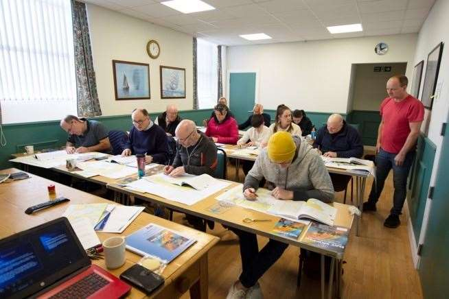 The course, which consists of around 40 hours of teaching time and two exams, is being delivered by Simon Paterson of Findhorn Marina.