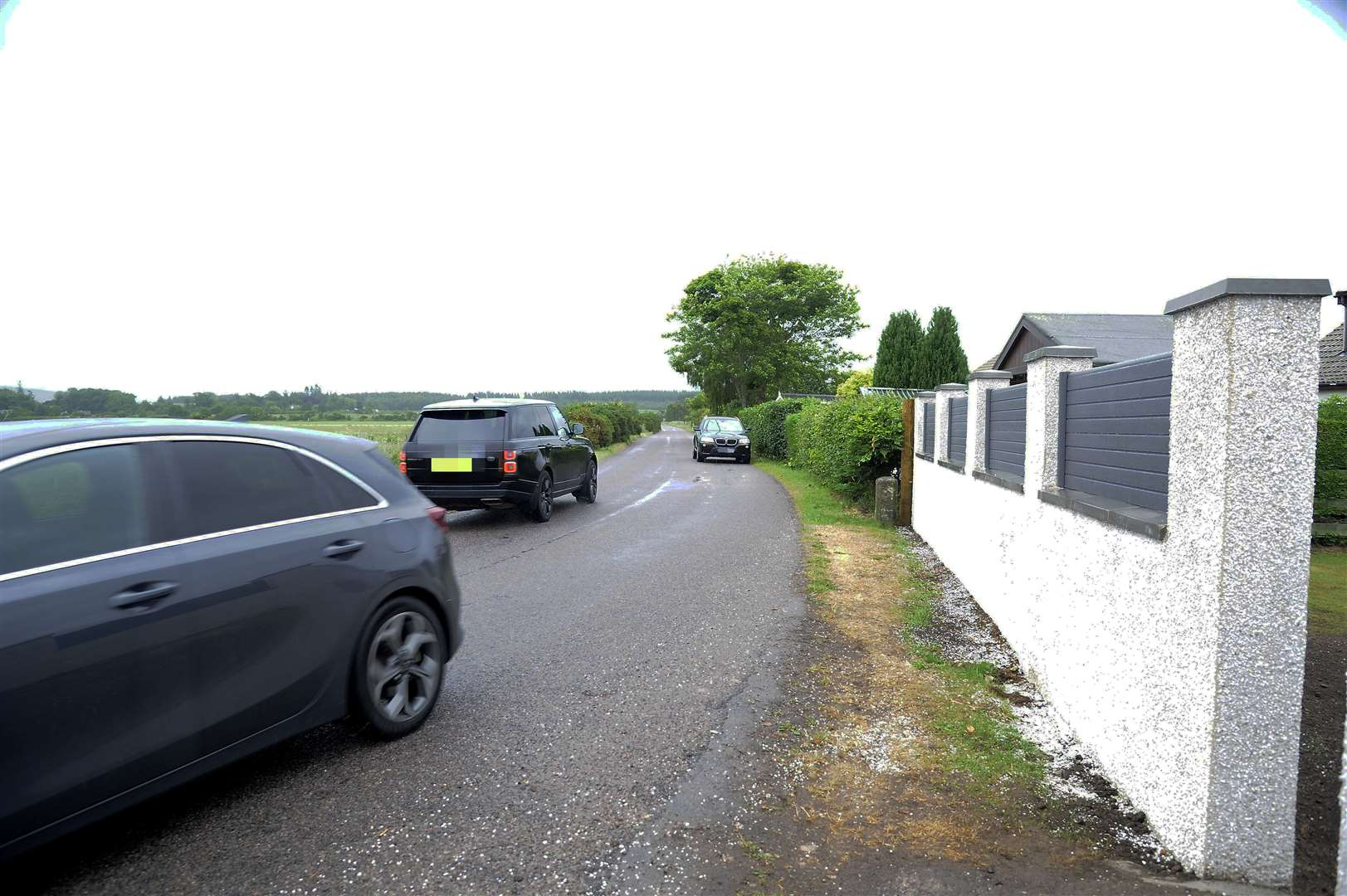 The road to Mundole near Redcraig becomes dangerous as traffic increases with developments in the town.
