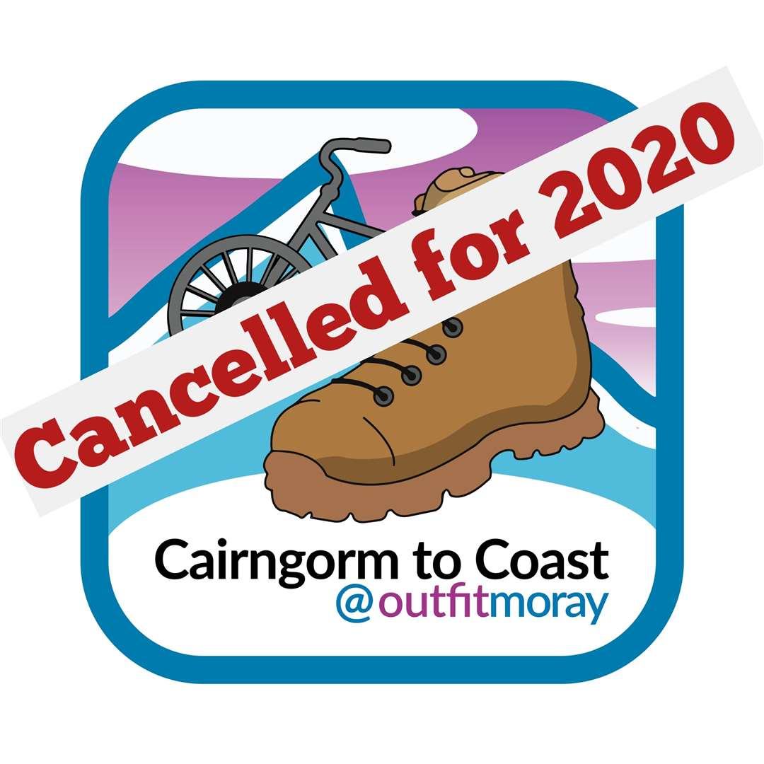 The Cairngorm to Coast fundraiser has been cancelled.
