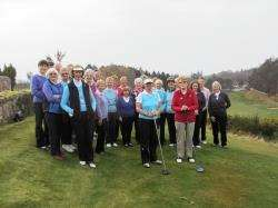 Ladies celebrate the official start of the season at Forres Golf Club