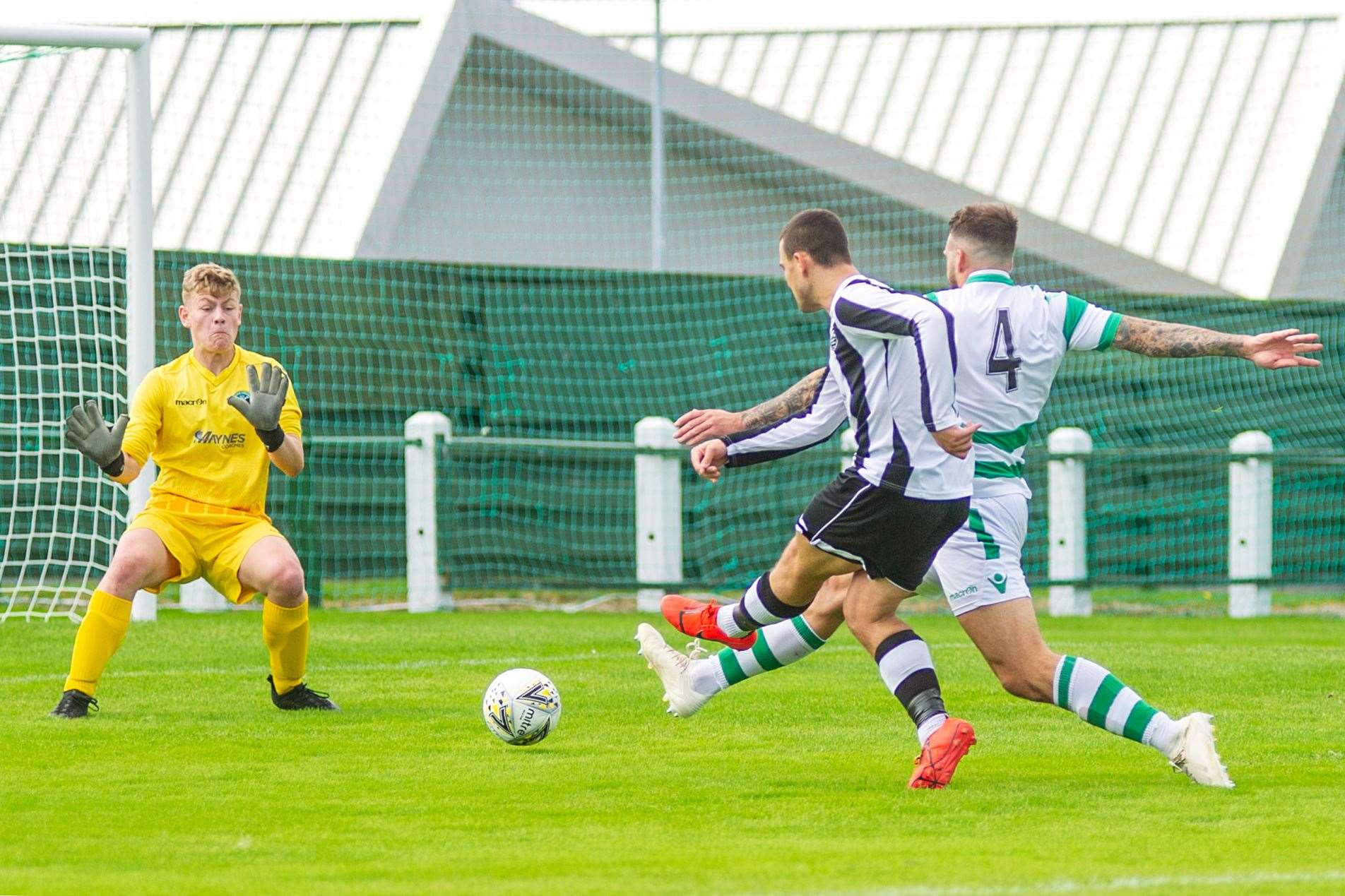 Scott Barbour was one of three hat-trick scorers for Fraserburgh in their 13-1 thrashing of Turriff United.