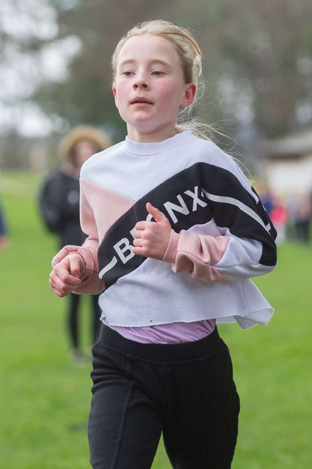 3rd overall in the P4-5 Girls race - Milly Thompson from Andersons Primary School...Forres Harriers' organised Forres Primary Schools Cross Country, held at Grant Park, Forres...Picture: Daniel Forsyth..