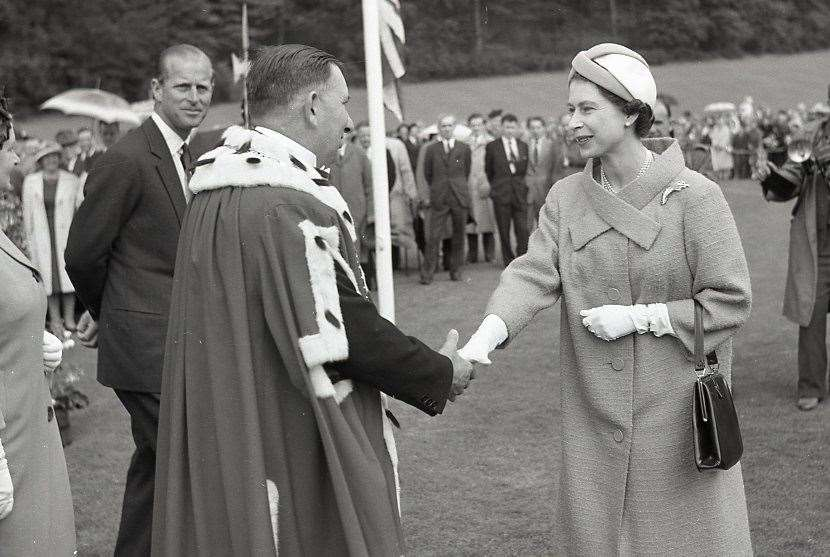 The Queen and the Duke of Edinburgh visiting Moray during 1961.